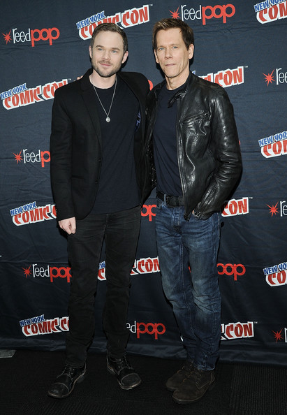 New York Comic Con: Day 4 [the following,jacket,premiere,actors,shawn ashmore,kevin bacon,press room,jacob javitz center,new york city,fox network,new york comic con]