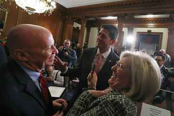 Kevin Brady House and Senate Leaders Gather for Tax Bill Enrollment Ceremony