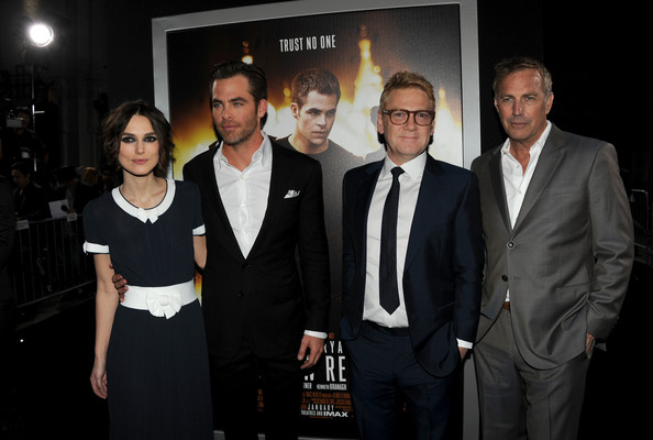 'Jack Ryan: Shadow Recruit' Premieres in Hollywood — Part 2 [jack ryan: shadow recruit,event,suit,white-collar worker,formal wear,premiere,team,kenneth branagh,chris pine,keira knightley,kevin costner,director,paramount pictures,red carpet,premiere,premiere]