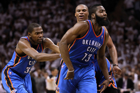 5d689ca3dca Kevin Durant and James Harden Photos»Photostream · Pictures · Oklahoma City  Thunder v San Antonio Spurs - Game Five
