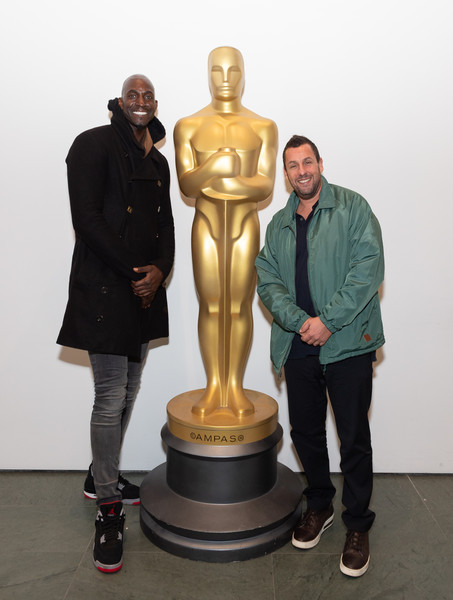 The Academy Of Motion Picture Arts And Sciences Screening Of 'UNCUT GEMS' [the academy of motion picture arts sciences hosts an official academy screening of uncut gems,sculpture,statue,bronze sculpture,figurine,standing,art,metal,bronze,trophy,fictional character,adam sandler,kevin garnett,moma - celeste bartos theater,new york city,academy of motion picture arts sciences hosts an official academy screening of uncut gems]