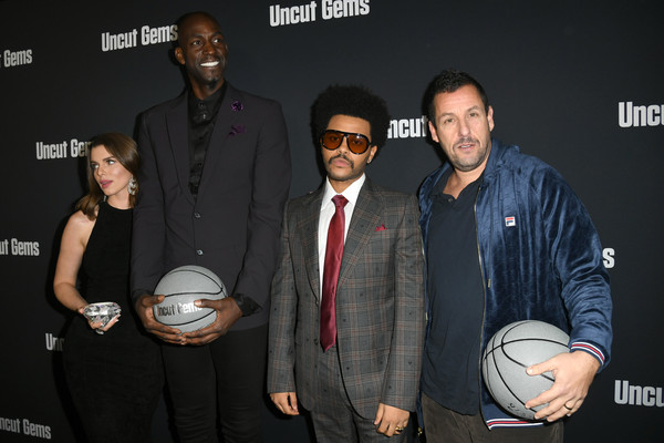 "Premiere Of A24's ""Uncut Gems"" - Red Carpet [basketball player,event,ball,coach,basketball,red carpet,julia fox,adam sandler,kevin garnett,the weeknd,uncut gems,arclight hollywood,a24,premiere,premiere]"