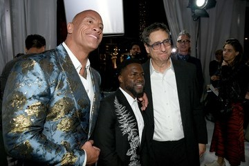 """Kevin Hart Dwayne Johnson Premiere Of Sony Pictures' """"Jumanji: The Next Level"""" - Red Carpet"""