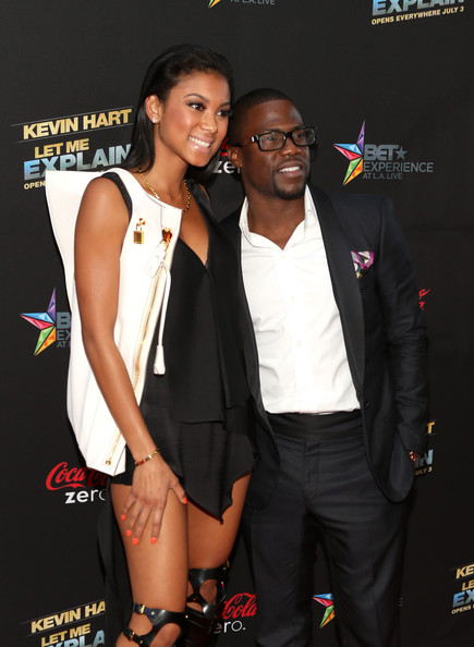 Kevin Hart with sexy, Fiancée Eniko Parrish