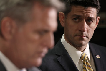 Kevin McCarthy House Speaker Paul Ryan (R-Wi) Addresses the Media After Weekly Party Conference