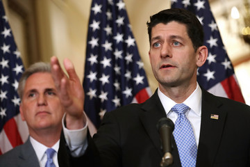 Kevin McCarthy Paul Ryan, House Leaders Hold Press Conference on American Health Care Act