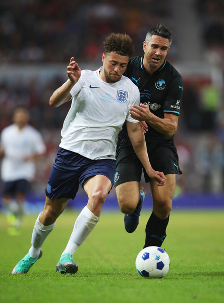 Soccer Aid For UNICEF 2018 [soccer,sports,sports equipment,football player,soccer player,team sport,ball game,football,player,soccer ball,myles stephenson,kevin pietersen,ball,englannd,england,unicef,rest of the world,soccer aid,battle,match]