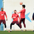 Kevin-Prince Boateng FC Barcelona Training And Press Conference