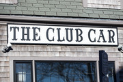 Singage at The Club Car restaurant where actor Kevin Spacey is alleged to have committed sexual assault in 2016 on January 7, 2019 in Nantucket, Massachusetts. Spacey appeared today in Nantucket District Court for his arraignment.