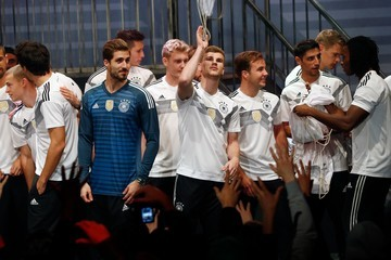Kevin Trapp Germany and Adidas Present the New Kit for the 2018 FIFA World Cup Russia
