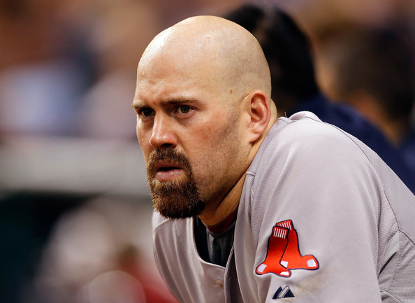 Kevin Youkilis Infielder Kevin Youkilis #20 of the Boston Red Sox watches his team from the dugout against the Tampa Bay Rays during the game at Tropicana Field on June 15, 2011 in St. Petersburg, Florida.