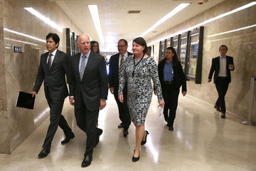 Kevin de Leon Jerry Brown Announces Emergency Drought Legislation