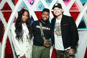 (L-R) Normani, Khalid and Kane Brown attend Khalid's 21st Birthday Party on February 11, 2019 in Beverly Hills, California.