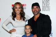 Melissa Gorga, Joe Gorga and son Gino Gorga pose backstage at the Kids Rock! fashion show during Spring 2016 New York Fashion Week: The Shows at The Dock, Skylight at Moynihan Station on September 10, 2015 in New York City.