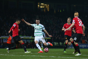 Kieffer Moore Yeovil Town v Manchester United - FA Cup Third Round