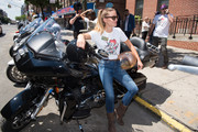Model Nina Senicar attends the Launch of Kiehl's 7th Annual Liferide for amfAR with partner RxArt at the Incarnation Childrens Center on August 3, 2016 in New York City.
