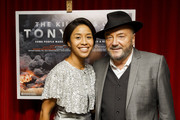 Putri Gayatri Pertwi and George Galloway attend the premiere of The Killing$ Of Tony Blair at Curzon Soho on July 27, 2016 in London, England.