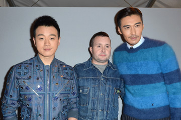 Kim Jones Backstage at Louis Vuitton