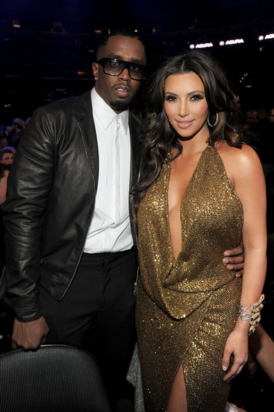 Kim Kardashian Producer Sean 'Diddy' Combs and TV personality Kim Kardashian arrive at The 53rd Annual GRAMMY Awards held at Staples Center on February 13, 2011 in Los Angeles, California.