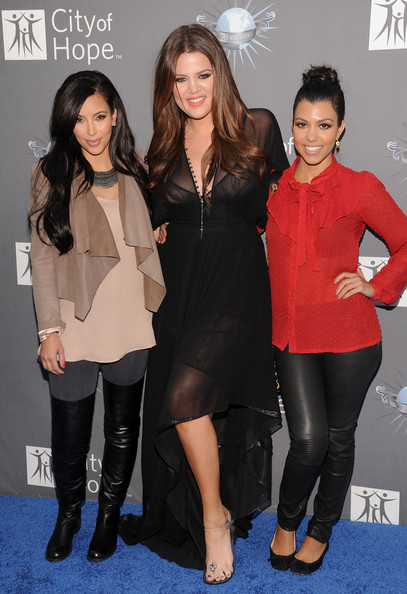 Kim Kardashian (L-R) Kim Kardashian, Khloe Kardashian and Kourtney Kardashian arrive for the City of Hope honoring Shelli And Irving Azoff with the 2011 Spirit of Life award at Universal Studios Hollywood on May 7, 2011 in Universal City, California.