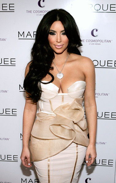 Kim Kardashian Television personality Kim Kardashian arrives at the Marquee nightclub at Cosmopolitan Las Vegas to host a Valentine's Day event February 14, 2011 in Las Vegas, Nevada