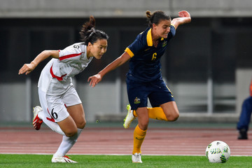 Kim Un Hyang North Korea v Australia - AFC Women's Olympic Final Qualification Round