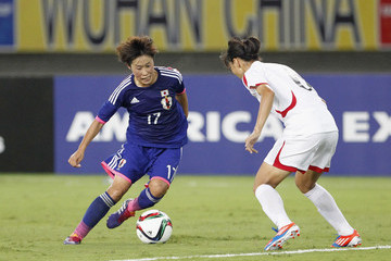 Kim Un Hyang DPR Korea v Japan - EAFF Women's East Asian Cup 2015