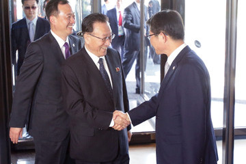 Kim Yang-Gon North Korean High Officials Visit Incheon To Attend Asian Games Closing Ceremony