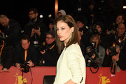 """Paula Beer attends the """"The Kindness Of Strangers"""" premiere during the 69th Berlinale International Film Festival Berlin at Berlinale Palace on February 07, 2019 in Berlin, Germany."""
