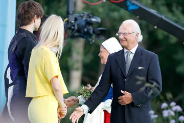 King Carl Gustaf The Crown Princess Victoria Of Sweden's Birthday Celebrations