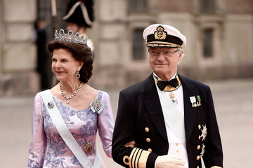 King Carl Gustaf XVI  Ceremony And Arrivals: Wedding of Prince Carl Philip of Sweden and Sofia Hellqvist