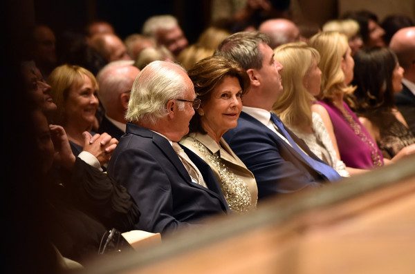 Queen Silvia of Sweden and King Carl XVI Gustaf of Sweden Attend 'Arena di Verona' Concert in Munich