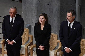 King Felipe VI Spanish Royals Attend Mass for Victims Terror Attacks