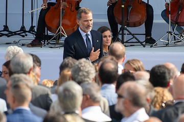 King Felipe VI First Year Anniversary Of Barcelona Terror Attack In Las Ramblas Area