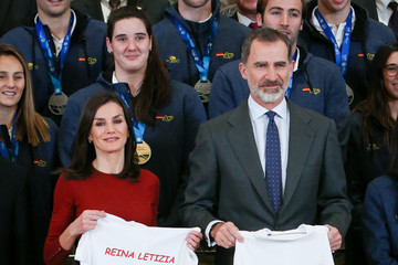 King Felipe VI of Spain Spanish Royals Receive National Wateropolo Women's Team