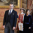 King Felipe VI of Spain Spanish Royals Receive The Diplomatic Corps At Zarzuela Palace