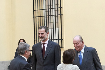King Juan Carlos I King Felipe VI of Spain Spanish Royals Host An Audience To The Advisory Council Of The General Courts For The Commemoration Of The 40th Anniversary of Spanish Constitution