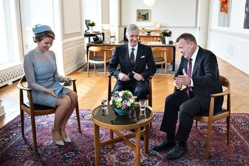 King Philippe King Philippe and Queen Mathilde Visit Denmark - Day 1
