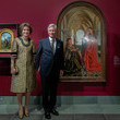 "King Philippe of Belgium King Philippe Of Belgium And Queen Mathilde visit the ""Van Eyck An Optical Revolution"" Exhibition At The Museum Of Fine Art"