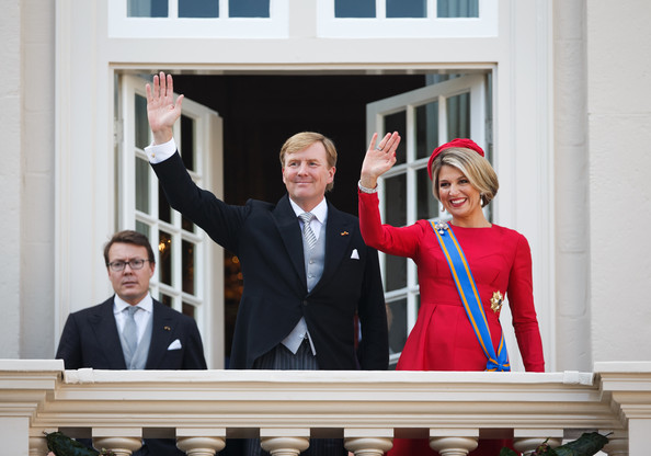 King Willem-Alexander and Queen Maxima of the Netherlands wave from the Noordeinde palace balcony on September 16, 2014 in The Hague, Netherlands. The Dutch King officially opens the parliamentary year by reading a speech outlining the government plans for the year ahead.