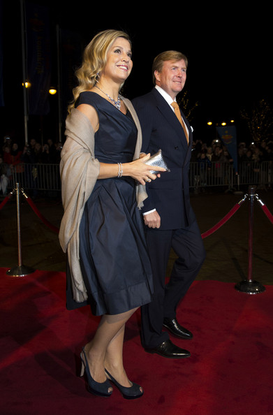 King Willem-Alexander of The Netherlands and Queen Maxima of The Netherlands arrive at the Circus Theatre for celebrations of the 200th anniversary of the Kingdom of The Netherlands on November 30, 2013 in The Hague, Netherlands.