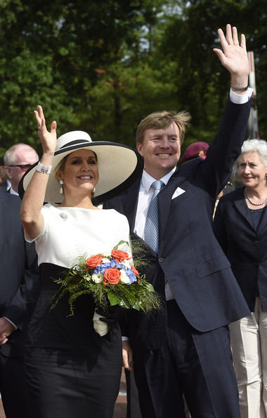 King Willem-Alexander and Queen Maxima of The Netherlands arrive at Oldenburg University on May 26, 2014 in Oldenburg, Germany.