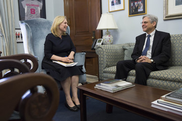 Kirsten Gillibrand Supreme Court Nominee Judge Garland Meets With Democratic Lawmakers on Capitol Hill