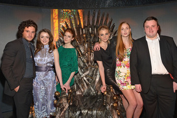 """Kit Harington Maisie Williams """"Game Of Thrones"""" The Exhibition New York Opening - Inside"""