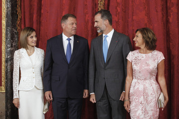 Klaus Werner Iohannis Spanish Royals Host a Lunch For President of Romania