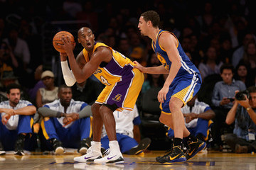 Kobe Bryant Klay Thompson Golden State Warriors v Los Angeles Lakers