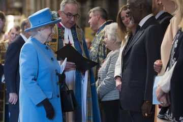 Kofi Annan The Royal Family Attends The Commonwealth Observance Day Service