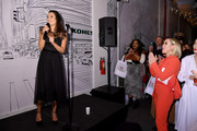 """Lea Michele performs during the kick off of the Holiday Season with Kohl's at their """"New Gifts At Every Turn"""" pop-up on November 06, 2019 in New York City."""