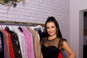 """Lea Michele kicks off the Holiday Season with Kohl's at their """"New Gifts At Every Turn"""" pop-up on November 06, 2019 in New York City."""
