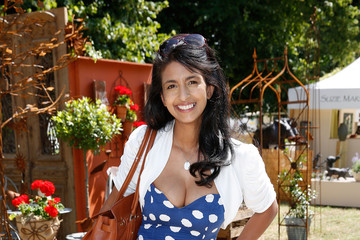 Konnie Huq Preparations for the Hampton Court Palace Flower Show